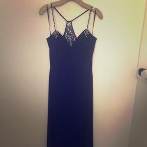 Black cache gown